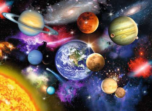 Solar System (RB13226-3), a 300 piece jigsaw puzzle by Ravensburger. Click to view larger image.