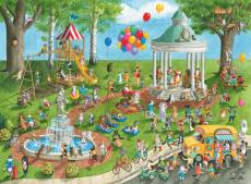 Dog Park (RB13229-4), a 300 piece Ravensburger jigsaw puzzle.