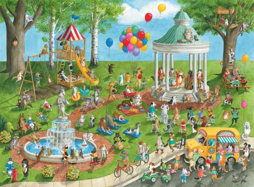 Dog Park (RB13229-4), a 300 piece jigsaw puzzle by Ravensburger. Click to view larger image.