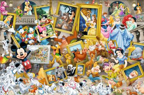Disney Favourite Friends (RB17432-4), a 5000 piece jigsaw puzzle by Ravensburger. Click to view larger image.