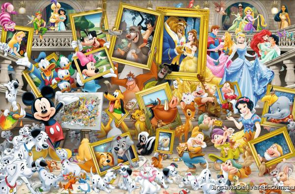 Disney Favourite Friends (RB17432-4), a 5000 piece jigsaw puzzle by Ravensburger.