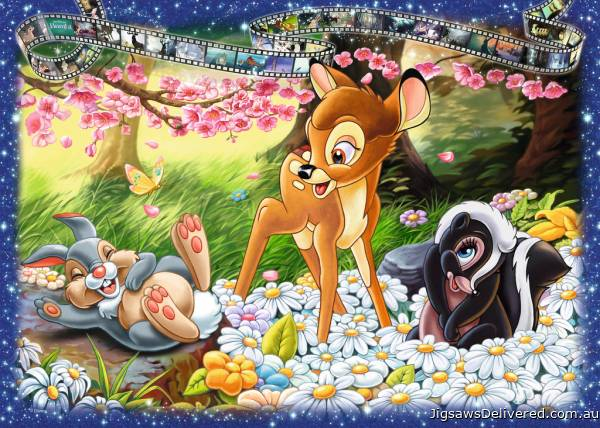 Bambi (RB19677-7), a 1000 piece jigsaw puzzle by Ravensburger.