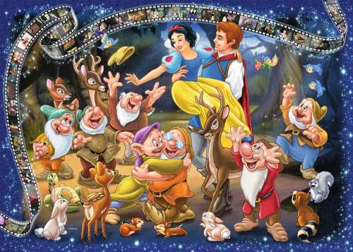 Snow White (RB19674-6), a 1000 piece jigsaw puzzle by Ravensburger. Click to view larger image.