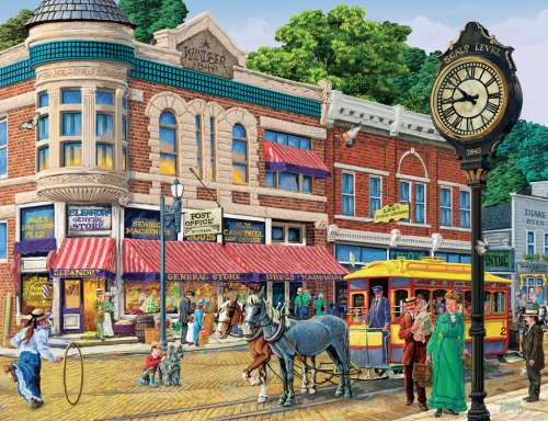 Ellen's General Store (RB16638-1), a 2000 piece jigsaw puzzle by Ravensburger. Click to view larger image.