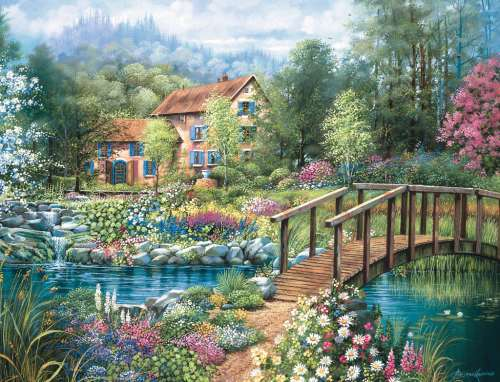 Shades Of Summer (RB16637-4), a 2000 piece jigsaw puzzle by Ravensburger. Click to view larger image.