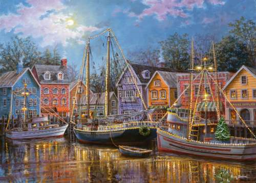 Ships Aglow (Large Pieces) (RB14912-4), a 500 piece jigsaw puzzle by Ravensburger. Click to view larger image.