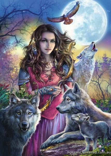 Protector Of Wolves (RB19664-7), a 1000 piece jigsaw puzzle by Ravensburger.