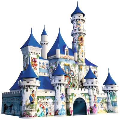 Disney Castle (3D Puzzle) (RB12510-4), a 216 piece jigsaw puzzle by Ravensburger. Click to view larger image.