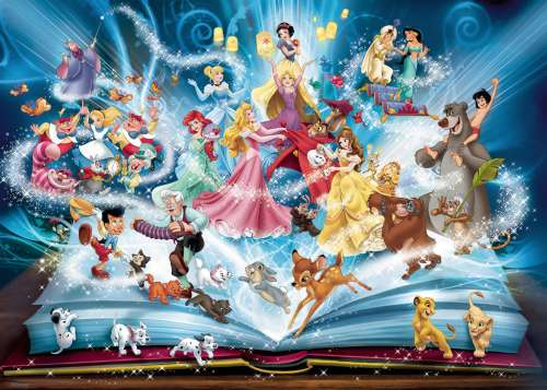 Disney Magical Storybook (RB16318-2), a 1500 piece jigsaw puzzle by Ravensburger. Click to view larger image.