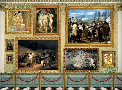 Museum Master Pieces (EDU17137), a 12000 piece jigsaw puzzle by Educa. Click to view larger image.