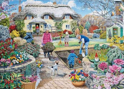 Winter Garden (Large Pieces) (HOL098453), a 500 piece jigsaw puzzle by Holdson. Click to view larger image.