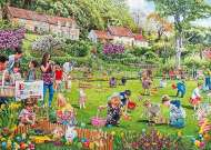 Easter Egg Hunt (Large Pieces) (HOL098446), a 500 piece Holdson jigsaw puzzle.