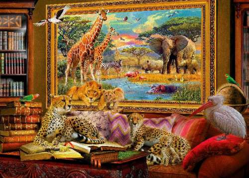 Savannah Still Life (HOL098408), a 1000 piece jigsaw puzzle by Holdson. Click to view larger image.