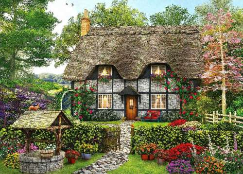 Meadow Cottage 2 (HOL098361), a 1000 piece jigsaw puzzle by Holdson. Click to view larger image.