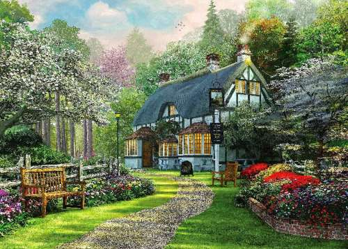 Cottage Pub (HOL098378), a 1000 piece jigsaw puzzle by Holdson. Click to view larger image.