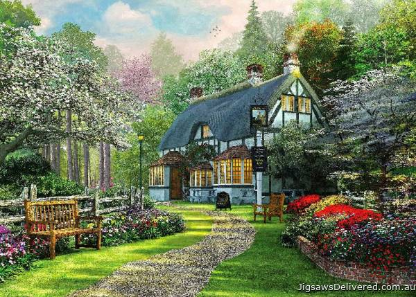 Cottage Pub (HOL098378), a 1000 piece jigsaw puzzle by Holdson.