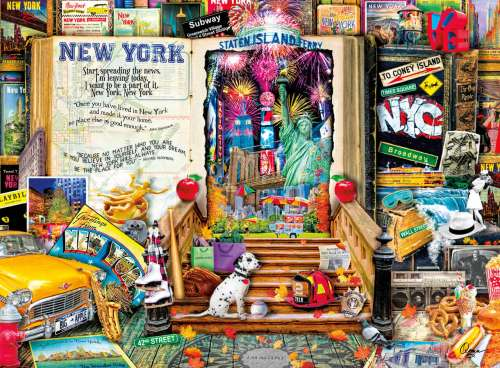 New York (Life is an Open Book) (HOL098880), a 1000 piece jigsaw puzzle by Holdson. Click to view larger image.