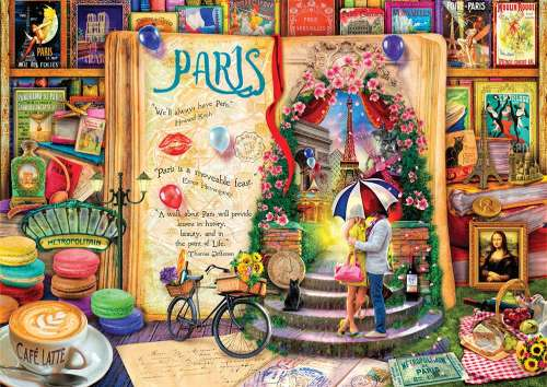 Paris (Life is an Open Book) (HOL098873), a 1000 piece jigsaw puzzle by Holdson. Click to view larger image.