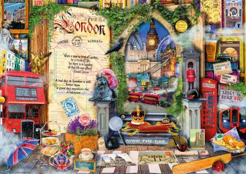 London (Life is an Open Book) (HOL098866), a 1000 piece jigsaw puzzle by Holdson. Click to view larger image.