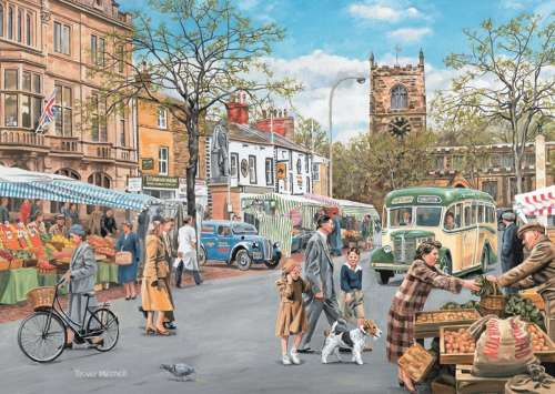 Skipton Market (JUM11146), a 500 piece jigsaw puzzle by Jumbo. Click to view larger image.