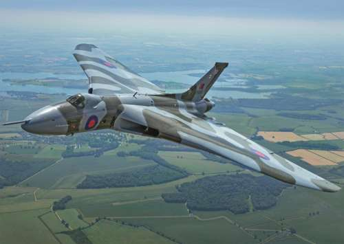 Vulcan Bomber (JUM11147), a 500 piece jigsaw puzzle by Jumbo. Click to view larger image.