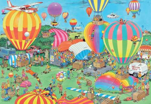 The Balloon Festival (2000pc) (JUM19053), a 2000 piece jigsaw puzzle by Jumbo. Click to view larger image.