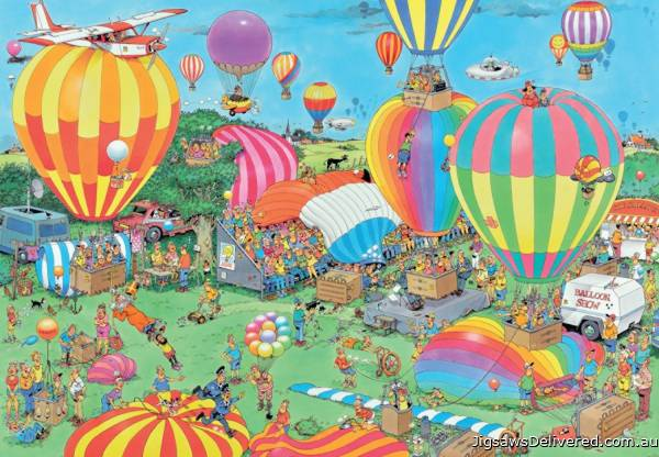 The Balloon Festival (2000pc) (JUM19053), a 2000 piece jigsaw puzzle by Jumbo.