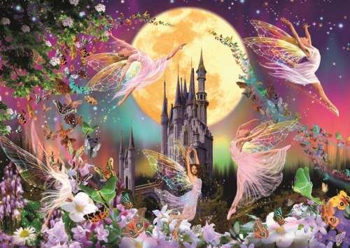 Dancing Fairies (JUM18358), a 500 piece jigsaw puzzle by Jumbo. Click to view larger image.