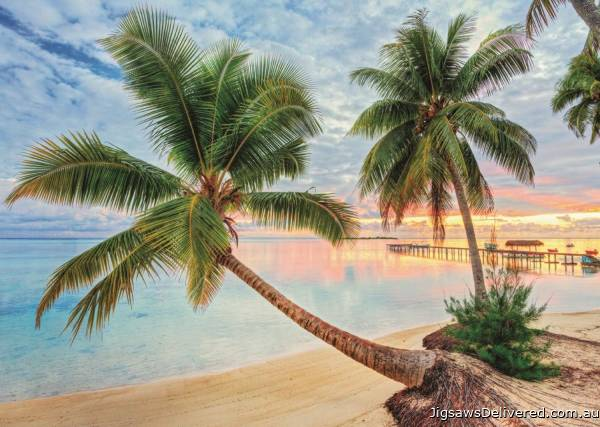 French Polynesia (JUM18363), a 1000 piece jigsaw puzzle by Jumbo.