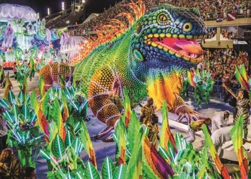 Carnival in Rio (JUM18365), a 1000 piece jigsaw puzzle by Jumbo. Click to view larger image.