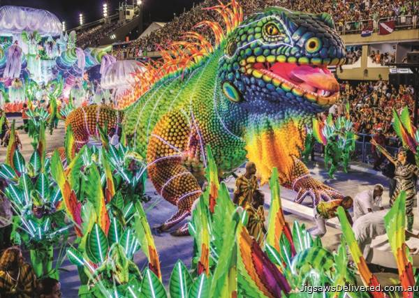 Carnival in Rio (JUM18365), a 1000 piece jigsaw puzzle by Jumbo.