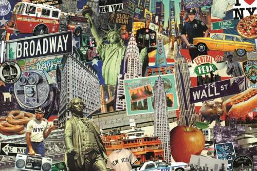 Best of New York (JUM18376), a 1500 piece jigsaw puzzle by Jumbo. Click to view larger image.