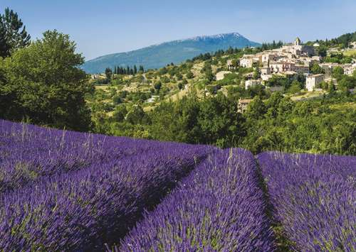 Aurel, Provence, France (JUM18397), a 500 piece jigsaw puzzle by Jumbo. Click to view larger image.