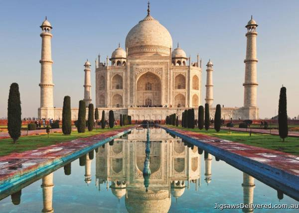 Taj Mahal, India (JUM18545), a 1000 piece jigsaw puzzle by Jumbo.