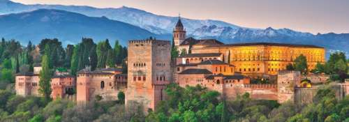 Alhambra, Spain (Panoramic) (JUM18574), a 1000 piece jigsaw puzzle by Jumbo. Click to view larger image.