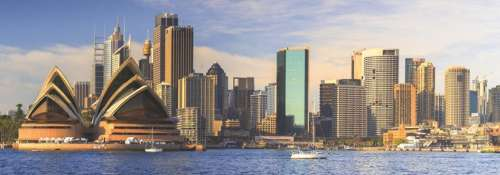 Sydney Skyline (Panoramic) (JUM18577), a 1000 piece jigsaw puzzle by Jumbo. Click to view larger image.
