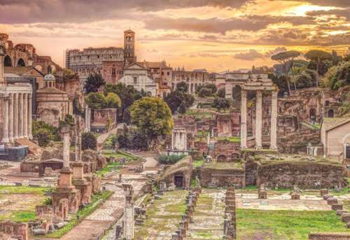 Roman Forum (JUM18592), a 5000 piece jigsaw puzzle by Jumbo. Click to view larger image.