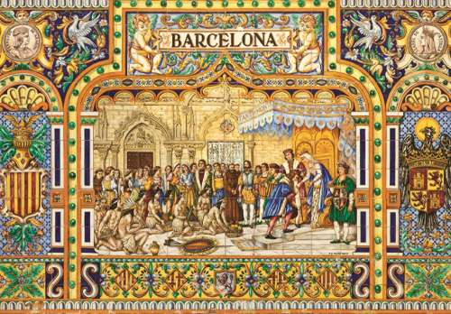 Tiles of Barcelona (JUM18590), a 3000 piece jigsaw puzzle by Jumbo. Click to view larger image.