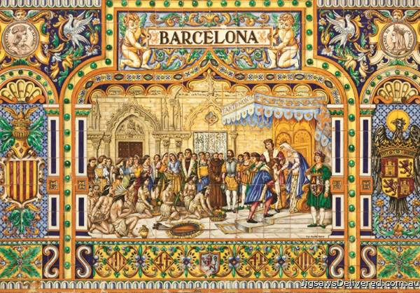 Tiles of Barcelona (JUM18590), a 3000 piece jigsaw puzzle by Jumbo.