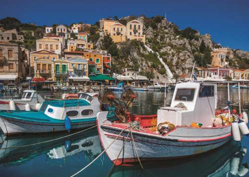 Symi, Greece (JUM18543), a 1000 piece jigsaw puzzle by Jumbo. Click to view larger image.