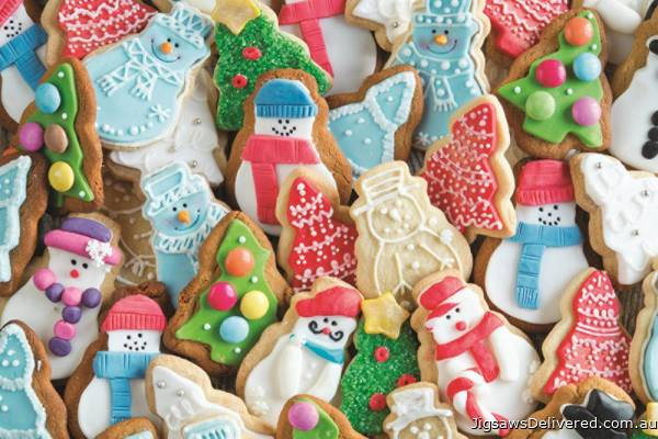 Christmas Biscuits (JUM18581), a 1500 piece jigsaw puzzle by Jumbo.
