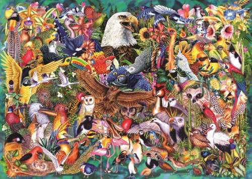 Animal Kingdom (JUM18568), a 1000 piece jigsaw puzzle by Jumbo. Click to view larger image.