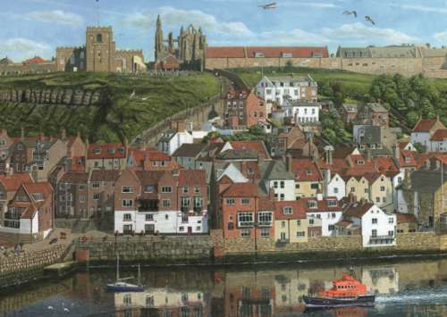 Whitby Harbour (JUM11142), a 1000 piece jigsaw puzzle by Jumbo. Click to view larger image.