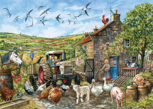 Another Day in the Dales, Yorkshire (JUM11156), a 1000 piece jigsaw puzzle by Jumbo. Click to view larger image.