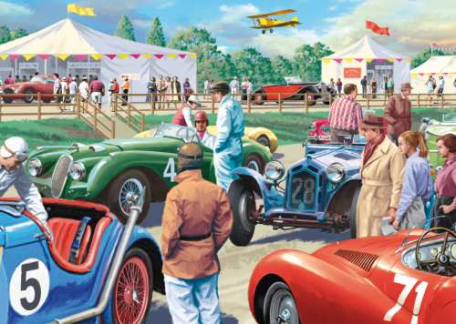 Legends of the Track (JUM11158), a 1000 piece jigsaw puzzle by Jumbo. Click to view larger image.