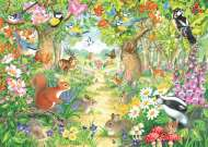 A Woodland Trail (JUM11155), a 1000 piece jigsaw puzzle by Jumbo and artist Claire Comerford. Click to view this jigsaw puzzle.