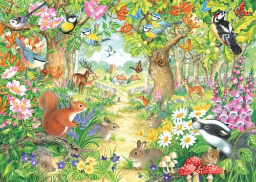 A Woodland Trail (JUM11155), a 1000 piece jigsaw puzzle by Jumbo. Click to view larger image.