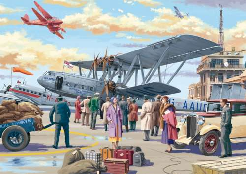 Croydon Airport (JUM11153), a 500 piece jigsaw puzzle by Jumbo. Click to view larger image.