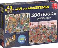 Let's Party (Twin pack 1000pc and 500pc) (JUM19058), a 1000 piece jigsaw puzzle by Jumbo and artist Jan van Haasteren. Click to view this jigsaw puzzle.