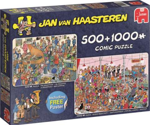 Let's Party (Twin pack 1000pc and 500pc) (JUM19058), a 1000 piece jigsaw puzzle by Jumbo. Click to view larger image.